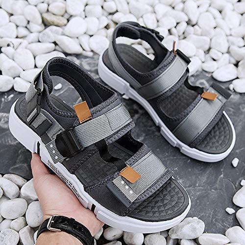 ZCLD Due Pantofole a Fascia indossabili Joker Antiscivolo Scarpe Casual Sandali da Trekking Scarpa Sportiva da Arrampicata Scarpe da Spiaggia Estiva, JD-P003 Grigio, 43