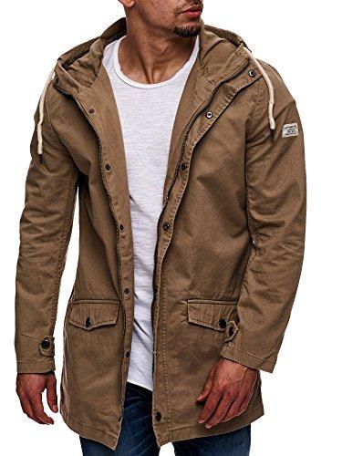 Eight2Nine Herren Parka mit Kapuze Übergangsjacke Outdoorjacke Jacke Kapuzenjacke Mantel Beige S M L XL XXL - 6