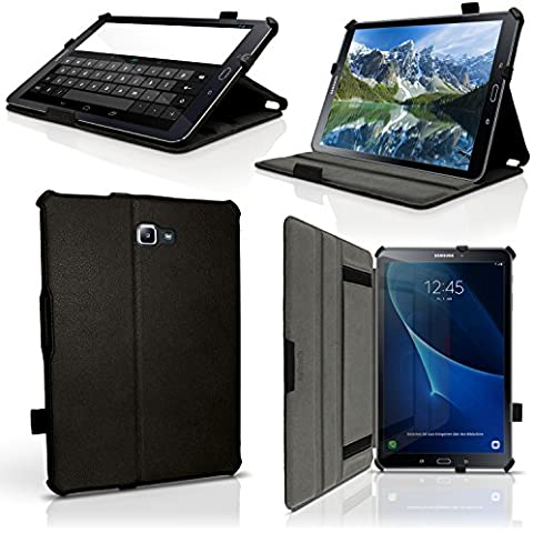 igadgitz Premium Negro Funda PU Cuero para Samsung Galaxy Tab A 10.1