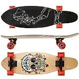 Ancheer Skateboard Komplett Board Cruiser Skateboard mit 7-lagigem Ahornholz und ABEC-9 Kugellager 85A Rollenhärte, 57mm PU-Rollen für Kinder, Jugendliche und Erwachsene