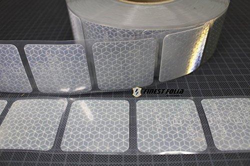 Diamond Reflektor (3M Reflexite VC 104+ Curtain Grade Segmentiert Konturmarkierung Reflexband (Weiß, 1 Meter (8,99 € / Meter)))