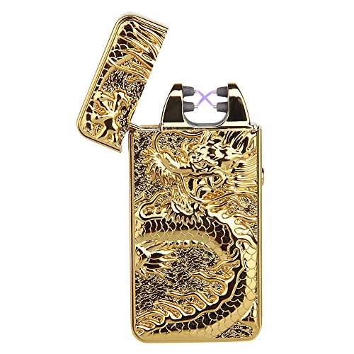 padgene-dragon-briquet-double-arc-electrique-sans-flamme-rechargeable-usb-anti-vent-or