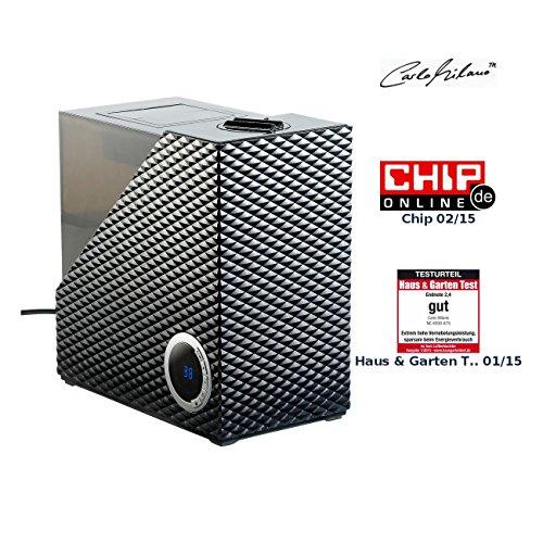 Carlo Milano Verdampfer: Ultraschall-Luftbefeuchter LBF-450 Warm-/Kaltnebel, Timer (Luftbefeuchter mit großem Tank)