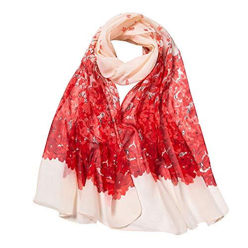 Chiffon Bedruckte Schal Lang, Oyedens Mode Damen Klimaanlage Schal Schals Frauen Blumendrucken Lange Weiche Wrap Schal -