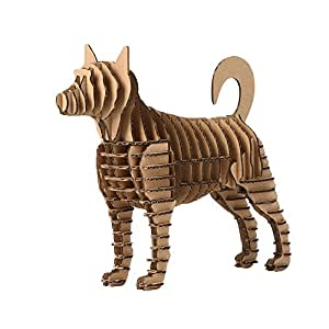Paper Maker 3-D Puzzles Toy Chinese Zodiac DIY Cardboard Construction creative ornamenti Dog