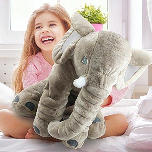 Elefante Almohada con Relleno Juguetes de Peluche de Animales Juguete Cojín para Bebé Diseño de elefante Peluches blandos