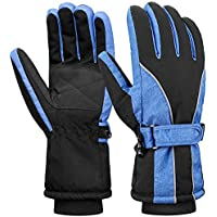 Terra Hiker Womens Waterproof Ski Gloves, Thermal Thinsulate Gloves for Winter Sports