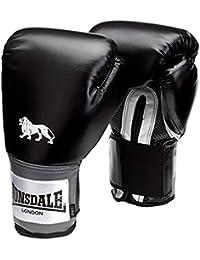 Lonsdale Unisex Pro Training Boxen Kunstleder Shell Handschuh schwarz