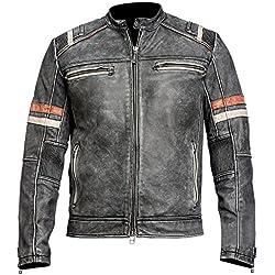 JNJ - Chaqueta - chaqueta - para hombre negro negro X-Large
