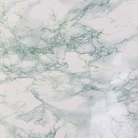 candora Marmor Effekt Kontakt Papier Film Vinyl Granit Look Selbstklebende Decor Tapete wand Aufkleber Blatt peel-stick Counter Top, TV Hintergrund 2* 16.4feet/61*, (Grüne Scraper)