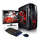 Megaport Super Méga Pack - Unité centrale pc gamer complet 8-Core AMD FX-8300 • Ecran LED 22' • Claviers de jeu et Souris • GeForce GTX 1050Ti • 16Go • 1To • Windows 10 ordinateur de bureau