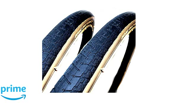 Coyote TY703 700 X 25C Black//Gumwall Road Bike Tyres x2