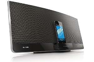 Philips DCM3260/12 Micro chaîne plate CD/MP3/WMA/Tuner FM numérique avec double connecteur pour iPod/iPad/iPhone 40W