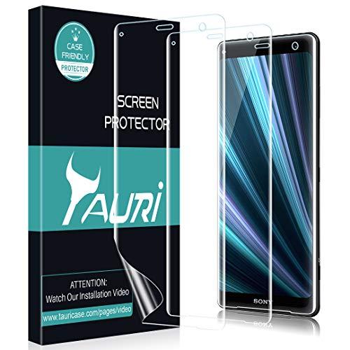 TAURI [3 Stücke] Schutzfolie Flüssigkeit Haut für Sony Xperia XZ3 [Wasser Installation] Klar HD TPU Folie Bildschirmschutzfolie [Blasenfreie, Einfache Installation]