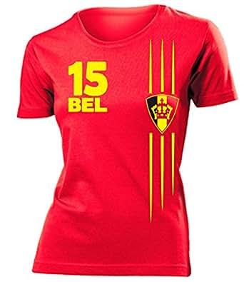 FUSSBALL – FANARTIKEL – BELGIEN FANSHIRT T-Shirt Damen S-XXL