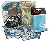 Pokemon - Leere Tin Box + Themendeck Sturmtief + 100 gemischte Pokemon Karten + Gratis Hüllen
