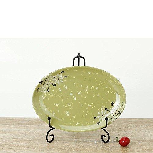 Daeou vaisselle en porcelaine de fantaisie plat ovale plaque de poisson plat en plastique plaque de sushi barbecue ensemble: un ensemble de deux