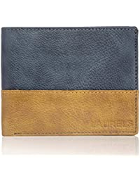 Laurels Diplomat Blue And Beige Men's Wallet (LW-DIP-0306)