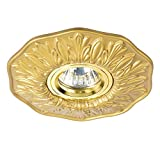Einbaustrahler GU10 LED Gold Messing klassisch für Konfekt