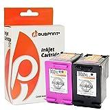 2x Bubprint Tintenpatrone kompatibel für HP 302 302XL DeskJet 3636 2130 3630 1110 Envy 4525 4520 OfficeJet 3831 3830 4655 all-in-one Multifunktionsdrucker