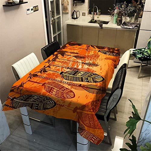 SONGHJ Tischdecke mit Polyester-Baumwolldruck Rechteckige wasserdichte, ölbeständige Tischdecke Christmas Home Wedding Tablecloth A 140x200cm / 55x79in