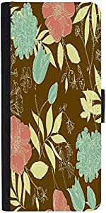 Snoogg Seamless Vintage Flower Pattern Designer Protective Flip Case Cover Fo...