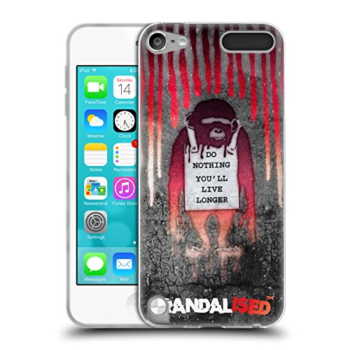 Head Case Designs Offizielle Brandalised Affe mit Zeichen Banksy Kunst Farbtropfen Soft Gel Hülle für Apple iPod Touch 5G 5th Gen