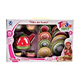 #9: Tokenz Cute Fruity Themed Family Tea Party Play Set for Kids 14Pcs