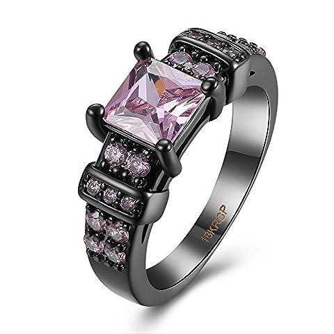 Thumby Cuivre Black Pistolet Plaqué 5.2g Romantique Montre De Type Diamant pour les femmes,rose,7