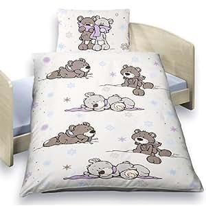 nici baby bettw sche winter bears 100x135 cm biber baby. Black Bedroom Furniture Sets. Home Design Ideas