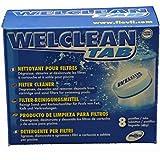 Nettoyant, dégraisse, détartre et désincruste pour filtre piscine - Welclean TAB Weltico - Jardiboutique
