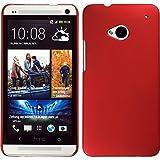 Funda Rígida para HTC One - rojo - Cover PhoneNatic Cubierta + protector de pantalla