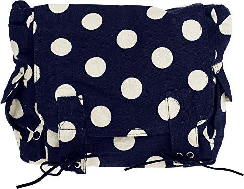 Cute TIFFANEY Punkte POLKA DOT Tasche MESSENGER BAG Rockabilly (Pinup Messenger Bag)