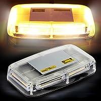 AMBOTHER 6 LED Cos Auto contorno LED de señal de advertencia lámpara Blink Haz de luz lámpara flash Lámpara Alta Intensidad Derecho durchsetzung Luz Estroboscópica resistente al agua 12 V amarillo