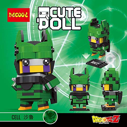 Figura de Cell Celula Dragonball Dragon Ball Puzzle Juego Bloques de construccion tamaño 9 cm DIY Mini Building Puzzle Juguete niños colección