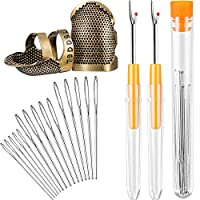 Scissor and Hand Needles 9 Pieces Clips WILLBOND 20 Pieces Seam Ripper and Sewing Kit Including 3 Pieces Ergonomic Grip Seam Rippers Thread Remover Tool 6 Pieces Gourd Shaped Needle Threader