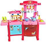 Iso Trade Spielküche Kinderküche Küche Kinder Spielzeug Puppenküche +40 Zubehörteile #4689