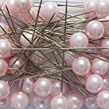 Blumen-Senf Perlen-Nadeln Deko-Nadeln Perle ROSA 6mm 100 Stück ACHTUNG! KEINE STECKNADELN