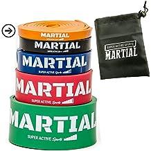 Banda Elástica de Resistencia de MARTIAL   Cuerda de Fuerza para Fitness, Crossfit, Pilates, Estiramientos  Incluye Bolsa de Transporte   5 Niveles de Resistencia Diferentes