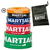 Loop Band di MARTIAL | Bande Elastiche/Elastici da Allenamento per Fitness, CrossFit, Pilates, Ginnastica | 5 Livelli di Resistenza Disponibili | Con Borsa da Trasporto