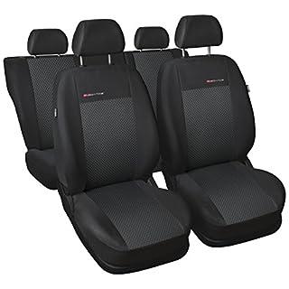 Sitzbezüge Auto Universal Set Autositzbezüge Schonbezüge Schwarz-Grau Vordersitze und Rücksitze mit Airbag System - P3