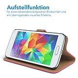 EAZY CASE GmbH Hülle für Samsung Galaxy S5 Mini Bookstyle mit Standfunktion, Book-Style Case aufklappbar, Schutzhülle, Flipcase, Flipstyle, Flipcover mit 2 Kartenfächern aus Kunstleder, Pink Vergleich