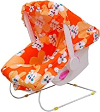TruGood Baby's Multi Use Swing Car Seat Rocker/Bouncer/ Bather/ Carry Cot with Mosquito Net (Multicolour)