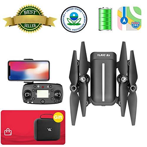 Drohne mit kamera hd Faltbare FPV WiFi-Drohne mit Sprachsteuerung / 120 ° Weitwinkel-Kamera 1080P HD/Flugbahnflug/Höhenlage