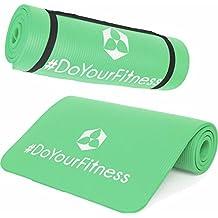 Esterilla para fitness »Amisha« / EXTRA gruesa y suave, perfecta para pilates, gimnasia y yoga / Medidas: 183 x 61 x 1,2cm / verde musgo