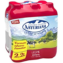Central Lechera Asturiana Leche Entera - Paquete de 6 x 2200 ml - Total: 13200