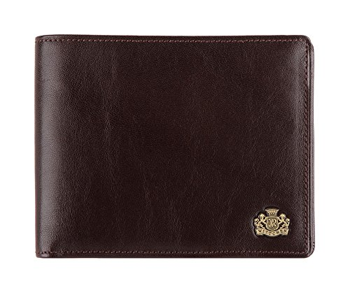 Wittchen Geldbeutel | Farbe: Braun| Material: Narbenleder| Größe: 13x10,5 CM, | Orientierung: Horizontal | Kollektion: Arizona| 10-1-262-4