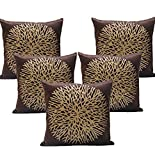 Muse Creation Decorative Cushion Covers in Velvet - Aesthetic Home Décor Pillow Shams - Brown