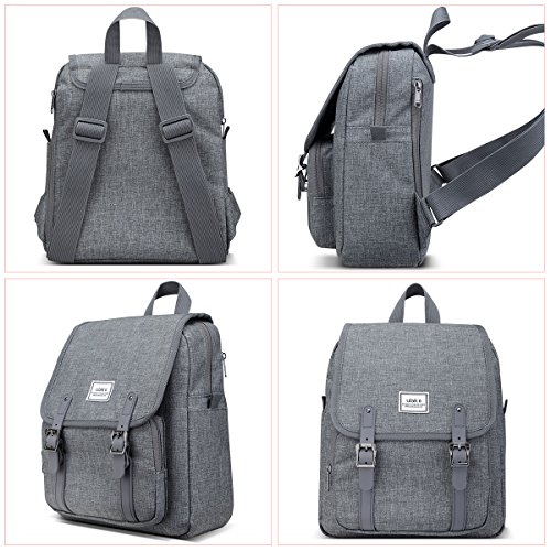 ULAK Backpack Unisex-Schultertasche Classic Casual College Rucksack Travel Daypack Für 10-Zoll-Tablet-iPad Grau