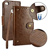 Danallc Huawei P8 Lite 2017 Wallet Multi Card Holder Covers New Folio PU Leather Cover With New Case Compatible With Huawei P8 Lite 2017 - Brown
